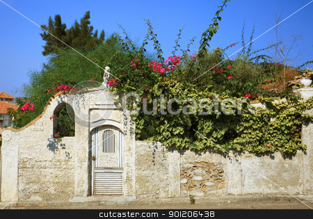 Fancy wicket in Calabria stock photo, Fancy wicket with mailbox in the wall somewhere in Reggio Calabria, southern Italy by Natalia Macheda