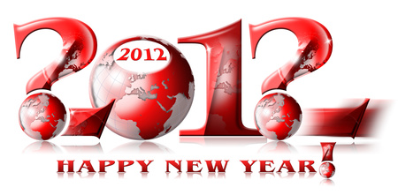 2012 why happy new year stock photo, written 2012, happy new year and the question mark symbol by catalby