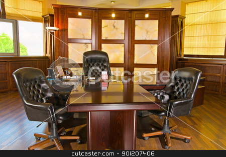 Executive office  stock photo, Executive office made in the classic style by miloslav78