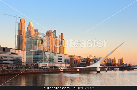 Puerto Madero, Buenos Aires, Argentina.  stock photo, Puerto Madero neighbourhood, Skyline, Buenos Aires, Argentina.  by Pablo Caridad