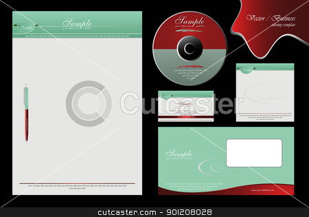 corporate identity stock vector clipart, corporate business identity illustration vector company template by Murat Tatan