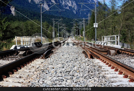 Railway stock photo, Mountain railways on a clean summer day by Bagiuiani Kostas