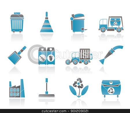 Cleaning Industry and environment Icons stock vector clipart, Cleaning Industry and environment Icons - vector icon set by Stoyan Haytov