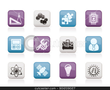 Science and Research Icons  stock vector clipart, Science and Research Icons - Vector Icon set by Stoyan Haytov