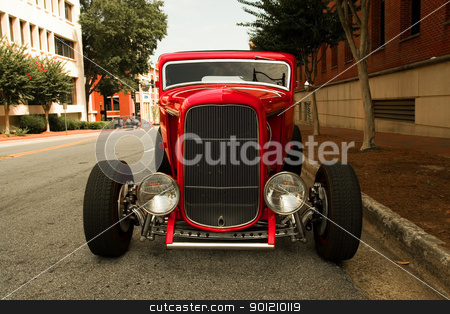 Roadster stock photo, Roadster parked on a city street by Jack Schiffer