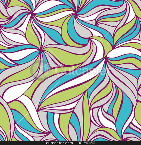 seamless decorative pattern stock vector clipart, abstract seamless colorful decorative pattern vector illustration by SelenaMay
