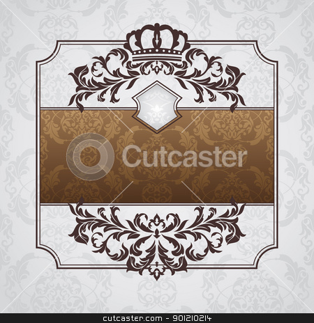 royal ornate vintage frame stock vector clipart, abstract royal ornate vintage frame vector illustration by SelenaMay