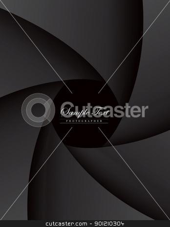 dark style portfolio  stock vector clipart, Dark Style Portfolio Photographer With A Camera Lens. A4 Print Template, EPS v.8.0 by sermax55