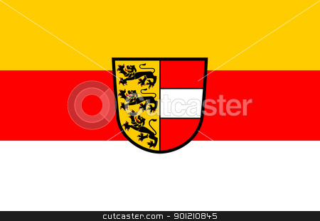 Carinthia state flag stock photo, State flag of the state of Carinthia in Austria. by Martin Crowdy