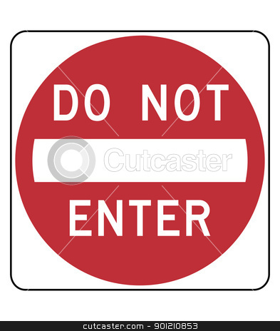 Do not enter sign stock photo, Red do not enter sign; isolated on white background. by Martin Crowdy