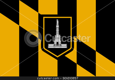 Baltimore city flag stock photo, City flag of Baltimore city in the U.S.A.  by Martin Crowdy