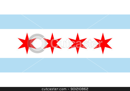 Chicago flag stock photo, Chicago city flag, state of Louisiana, U.S.A.  by Martin Crowdy
