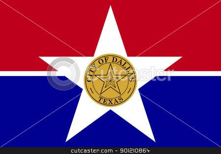 Dallas city flag stock photo, Flag of Dallas city,Texas in the U.S.A  by Martin Crowdy