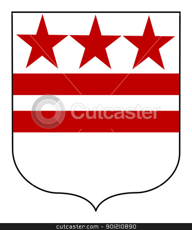 George Washington coat of arms stock photo, George Washington, coat or arms or flag, isolated on white background by Martin Crowdy