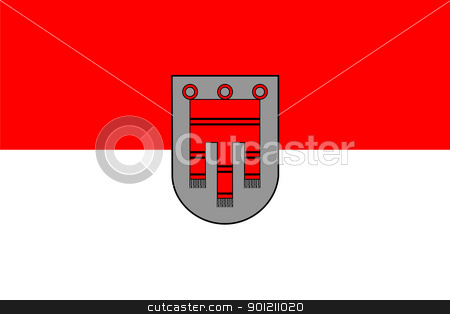 Vorarlberg state flag of Austria stock photo, Official state flag of Vorarlberg in Austria.  by Martin Crowdy