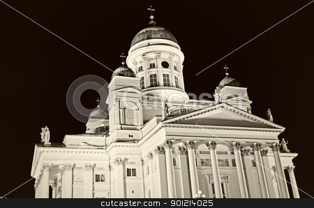 B&W of Lutheran Cathedral stock photo, B&W of Lutheran Cathedral in downtown of Helsinki by Henryk Sadura