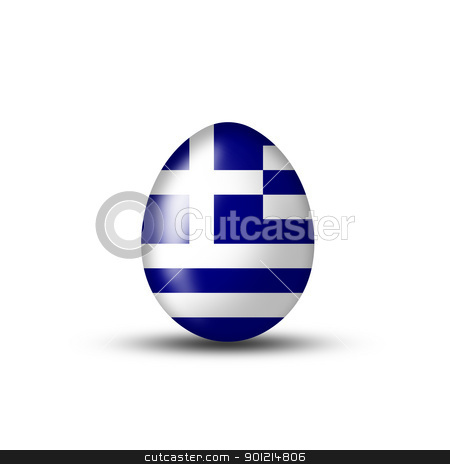greece egg stock photo, Easter egg with a Greek flag on a white background  by Viktor Thaut