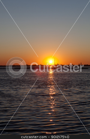Sunrise over Venice stock photo, Sunrise over the Skyline of Venice by novelo