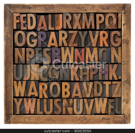 random alphabet letters stock photo, random alphabet letters in vintage letterpress type by Marek Uliasz