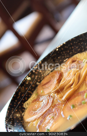 pork with noodle in japanese style  stock photo, pork with noodle in japanese style  by Keng po Leung