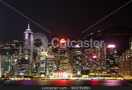 hong kong stock photo, hong kong and modern buildings by Keng po Leung
