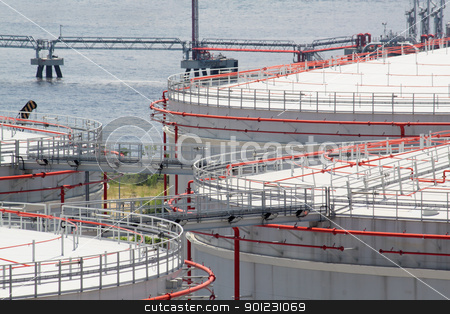 gas tank stock photo, gas tank in hong kong by Keng po Leung