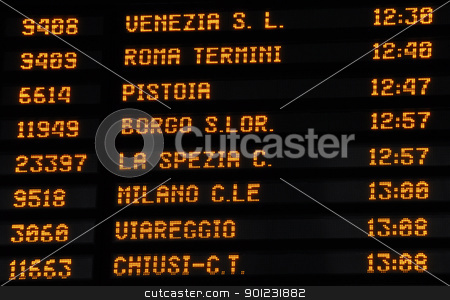 Timetable train timetable, Italy stock photo, Timetable train timetable in Italy by Dutourdumonde