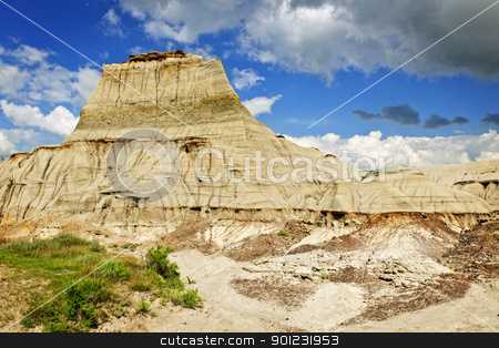 Badlands in Alberta, Canada stock photo, View of the Badlands and hoodoos in Dinosaur provincial park, Alberta, Canada by Elena Elisseeva