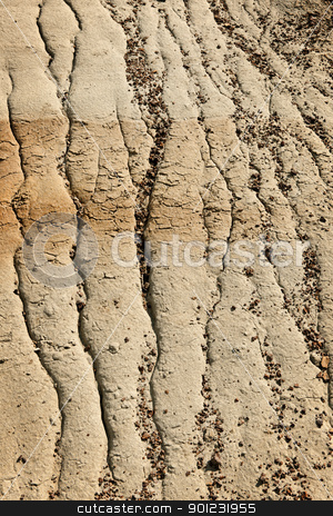 Eroded soil stock photo, Close up of eroded soil patterns in badlands in Alberta, Canada by Elena Elisseeva