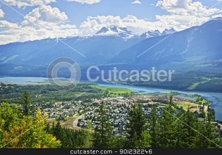 View of Revelstoke in British Columbia, Canada stock photo, View of Revelstoke and Canadian Rockies in British Columbia, Canada by Elena Elisseeva