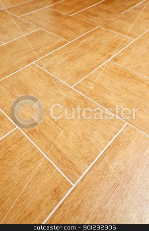 Ceramic tile floor stock photo, Ceramic tiles flooring close up as background by Elena Elisseeva
