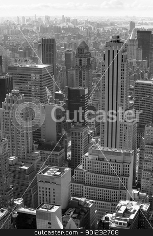 New York city black and white stock photo, Photo of New York city in black and white. by © Ron Sumners