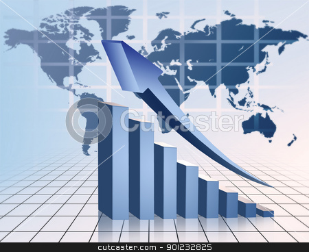 financial graph stock photo, financial graph by warenemy