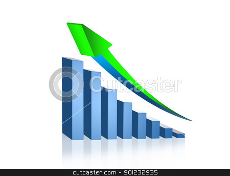 growing stock photo, growing graph by warenemy