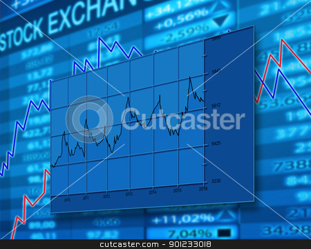 diagram stock photo, stock exchange diagram by warenemy