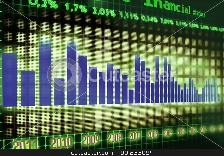 financial graph stock photo, economy statistics by warenemy