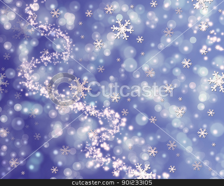 abstract winter stock photo, abstract winter , snowfall and lights sparkle by warenemy