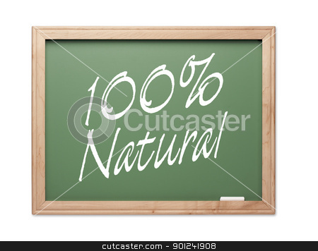 100 Percent Natural Green Chalk Board Series stock photo, 100 Percent Natural Green Chalk Board Series on a White Background. by Andy Dean