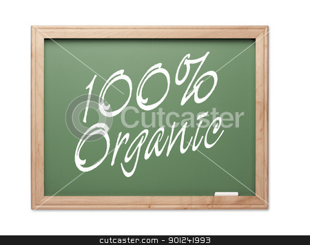 100% Organic Green Chalk Board Series stock photo, 100% Organic Green Chalk Board Series on a White Background. by Andy Dean