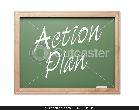 Action Plan Green Chalk Board Series stock photo, Action Plan Green Chalk Board Series on a White Background. by Andy Dean