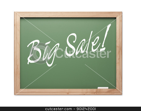 Big Sale! Green Chalk Board Series stock photo, Big Sale! Green Chalk Board Series on a White Background. by Andy Dean