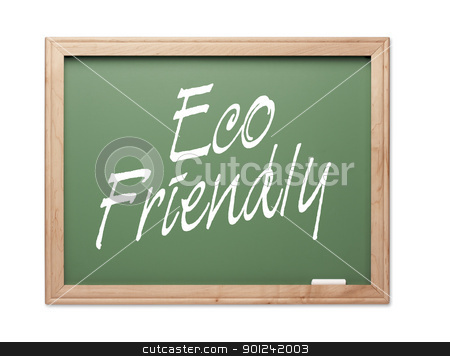 Eco Friendly Green Chalk Board Series stock photo, Eco Friendly Green Chalk Board Series on a White Background. by Andy Dean