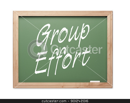 Group Effort Green Chalk Board Series stock photo, Group Effort Green Chalk Board Series on a White Background. by Andy Dean