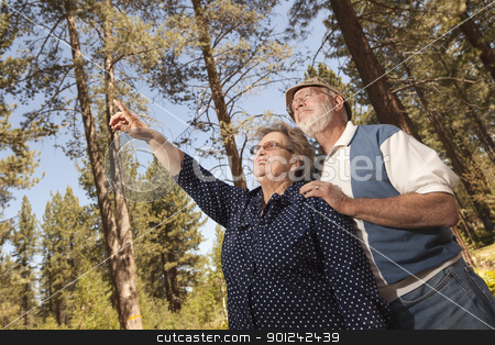 Loving Senior Couple Enjoying the Outdoors stock photo, Loving Senior Couple Enjoying the Outdoors Together. by Andy Dean