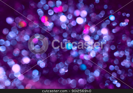 Disco light spots background stock photo, Abstract background of blurry disco a lights by Imaster