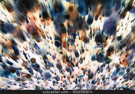 Abstract dynamic background stock photo, Abstract dynamic background from defocus light tinsel by Imaster