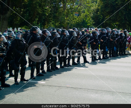 Riot police stock photo, Riot Line by Cora Reed