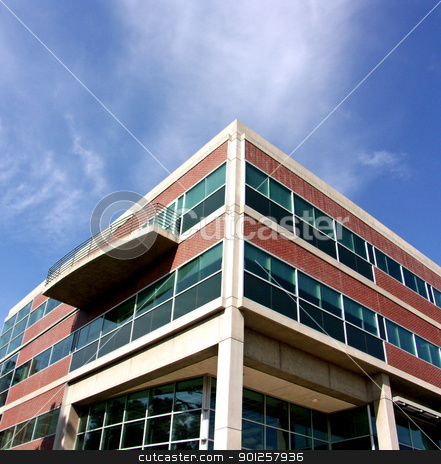 Modern building stock photo, Modern office building by Cora Reed