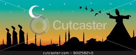istanbul stock vector clipart, vector cityscape of istanbul by Emir Simsek
