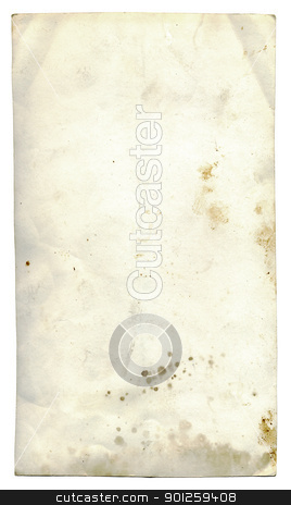 Isolated grunge paper stock photo, Isolated old dirty stained a paper photo card by Imaster